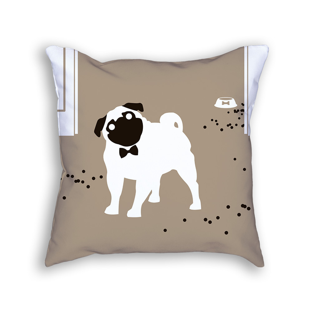 Pug Pillow Front