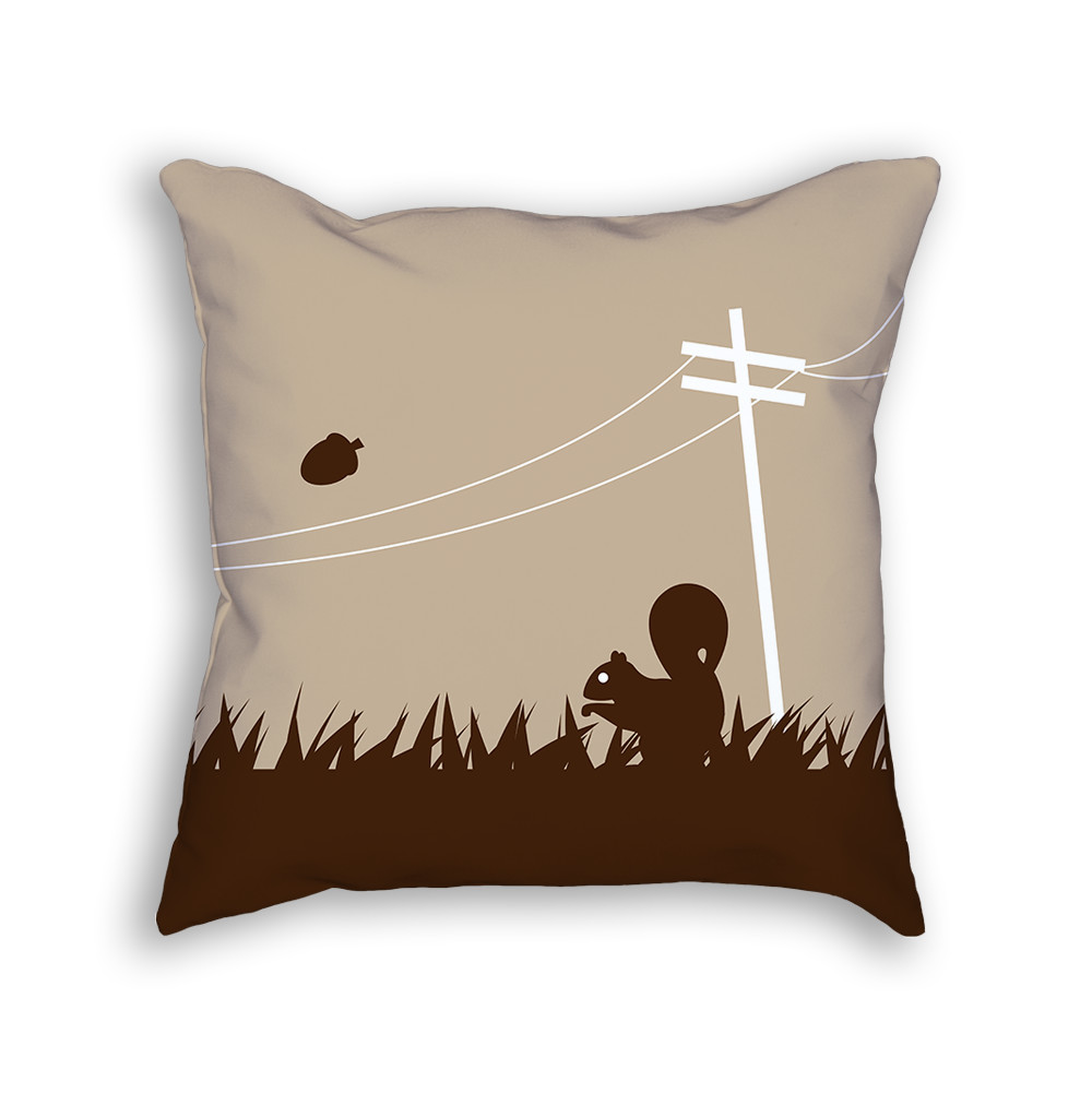 Squirrel Pillow Front