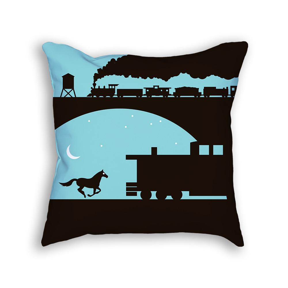 Train Pillow Front