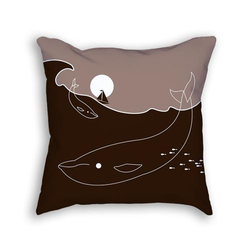 Whale Pillow Front